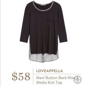 Loveappella Stitch Fix Mani Button Back Mixed New